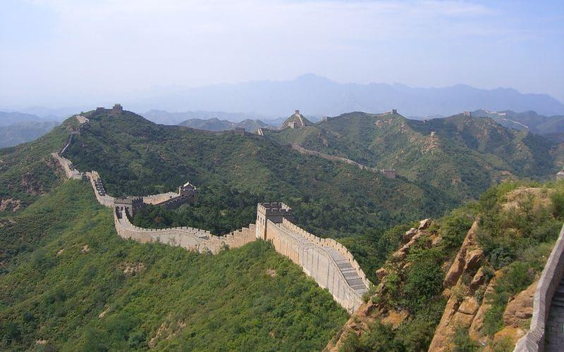 Alba sulla Grande Muraglia Cinese